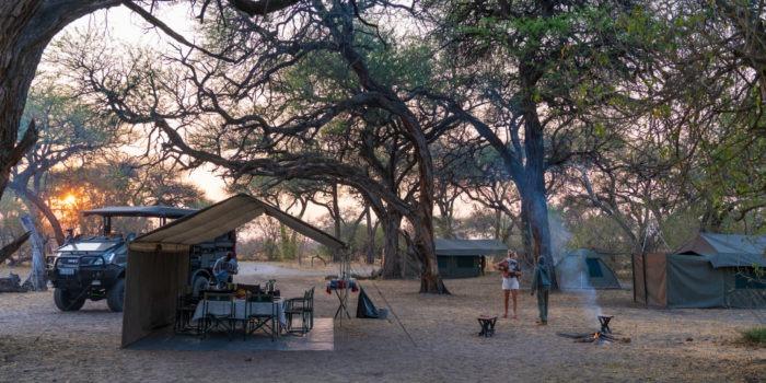 Botswana Mobile safari camp setup