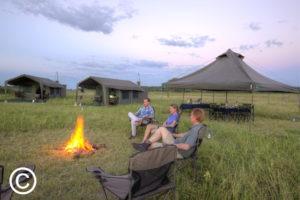 Botswana mobile safari campfire