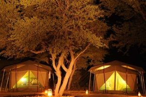 Botswana mobile safari capricorn tent night