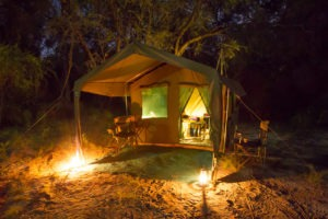 Botswana mobile safari night tent external