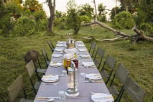 Botswana mobile safari outdoor breakfast okavango delta