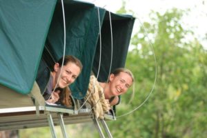Botswana self drive safari family in tent