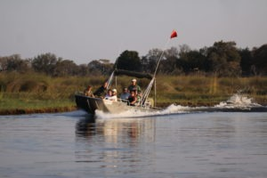 Trans Okavango boating expedition along river