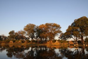 Trans Okavango boating expedition remote camp