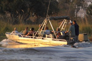 Trans Okavango boating expedition safari