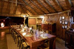africa on foot dinner setup