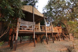 island bush camp chalet front view