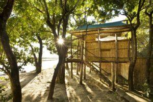 island bush camp chalet outside