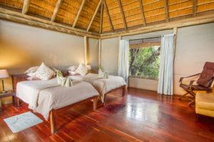 kwando lagoon camp family room
