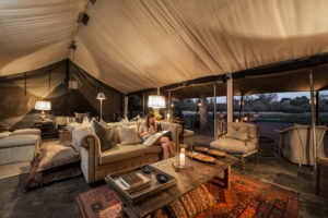 machaba camp lounge area