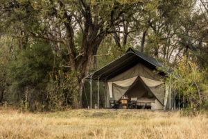 machaba camp tent outside
