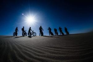 namibia fat bike group sun photo