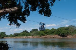 northern tuli botswana cycling safari crossing river