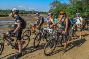 northern tuli botswana cycling safari team photo