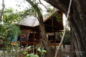 nxamaseri island lodge tent exterior