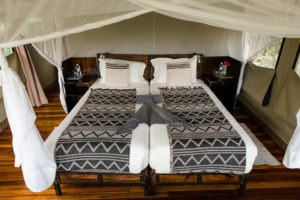 sango safari camp khwai bed close