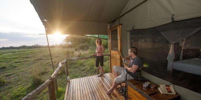sango safari camp khwai tent view