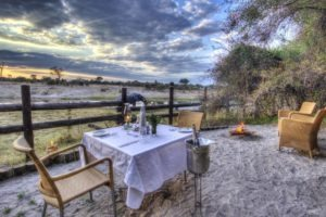 savuti safari lodge private dinner