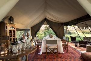 selinda explorers camp dinning table
