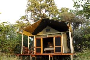 selinda spillway camp tent