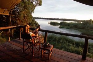 upper zambezi zambia fishing camp view sunset