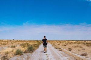 Central Kalahari Botswana Frank Walking Remote