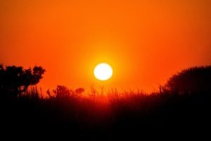 Central Kalahari Botswana Sunset