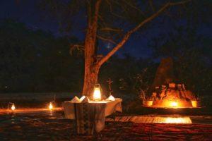 Dinner under the stars at Chula Island Camp