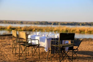 Lunch on the banks of the Zambezi