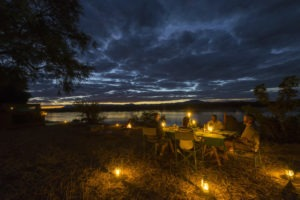 camp zambezi mana pools dinner