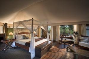 kanga camp mana pools big bed view
