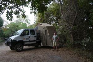 the frankmobil camp set up