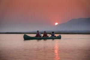 zambezi expeditions mana pools canoe sunset