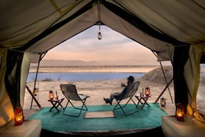 zambezi expeditions mana pools tent view