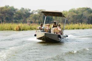 zambia lower zambezi sausage tree camp boat transfer