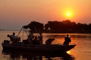 zambia lower zambezi sausage tree camp sunset cruise