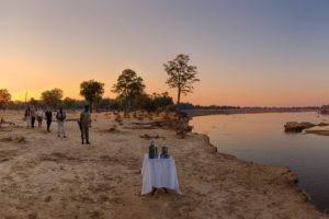 zambia south luangwa walking safari sunset drinks