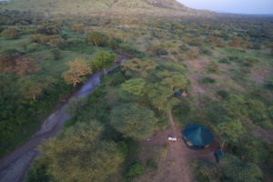 banagi green camp tanzania aerial camp