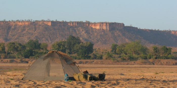 gonarezhou walking safaris tent landscape