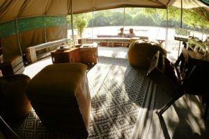 manyara green camp tanzania lounge