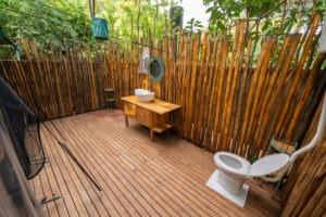 manyara green camp toilet view