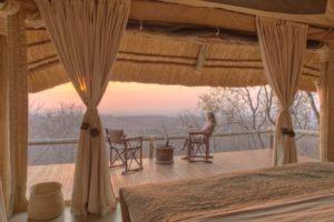 ikuka camp ruaha bed view