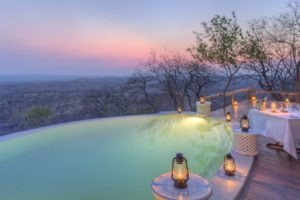 ikuka camp ruaha pool night