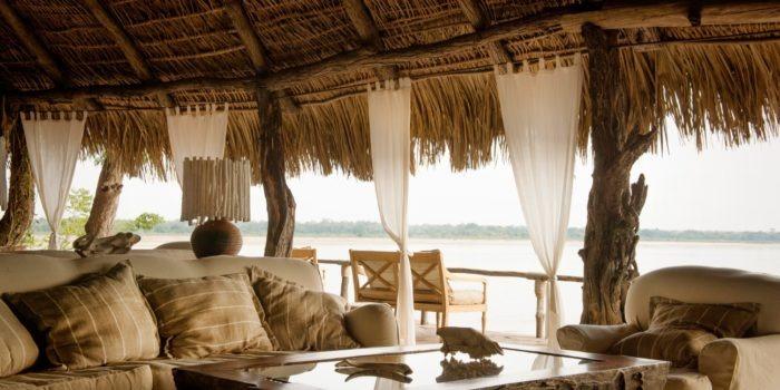 sand rivers selous lounge view