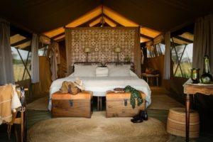 serengeti safari camp double bed