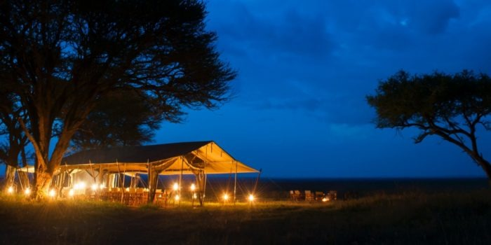 serengeti safari camp night