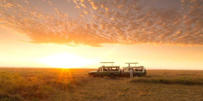serengeti safari camp sundowner