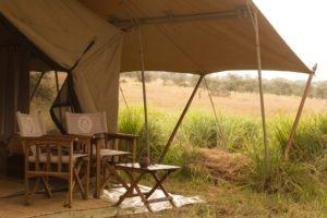 serengeti safari camp tent exterior