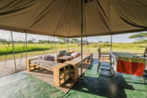 wayo walking camp serengeti dining tent