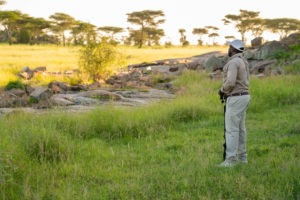 wayo walking camp serengeti guide morning